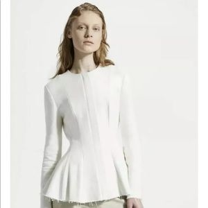 Theory canvas movement peplum white jacket blazer